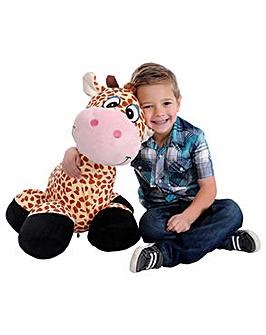 Inflatable Plush Giraffe Ride-On