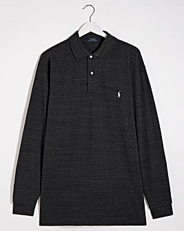 Polo Ralph Lauren Black Marl Classic Long Sleeve Polo