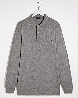 Polo Ralph Lauren Heather Classic Long Sleeve Polo