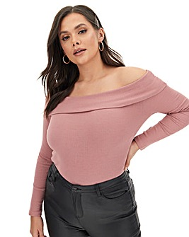 Fold Over Bardot Top