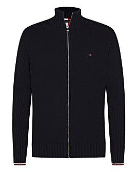 Tommy Hilfiger Textured Zip Through Knit