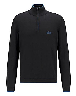 BOSS Ziston 1/4 Zip Knit