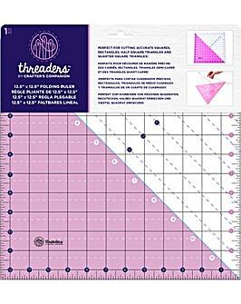 Threaders 12.5� x 12.5� Folding Ruler