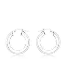 9Ct Gold Medium Tube Earrings