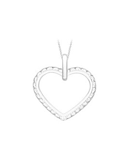 9Ct Gold Open Heart Necklace