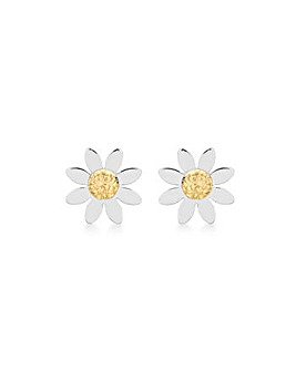9Ct Gold Daisy Earrings