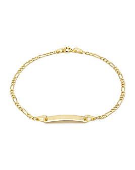 9Ct Gold Figaro ID Bracelet
