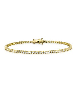 9Ct Gold Round Tennis Bracelet