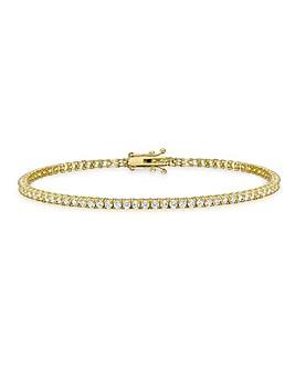 9Ct Gold Round Tennis Bracelet