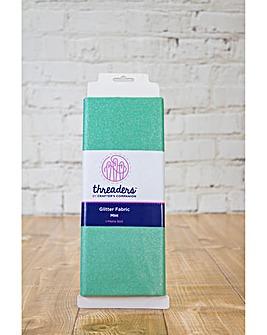 Threaders Glit Fabric - Mint - 1m Bolt
