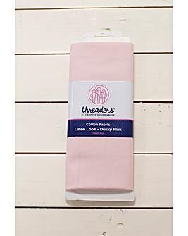 1m Linen Look Fabric Bolt - Dusky Pink