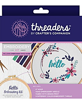 Threaders - Embroidery Kit - Hello
