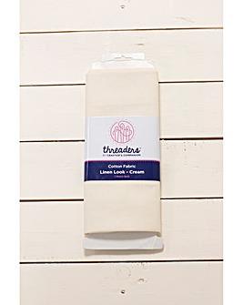 1m Linen Look Fabric Bolt - Cream