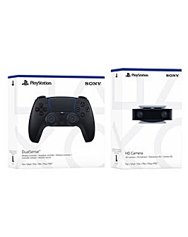 PS5 Black Controller and HD Camera