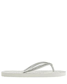 Accessorize Silver Embellished Sandal