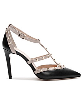 Daniel Tiff Leather Studded Court Shoes