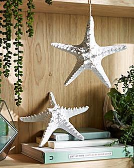 Starfish Hanging Ornament Set of 2