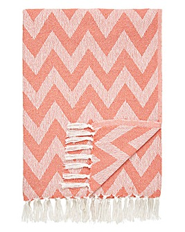 Cotton Chevron Throw