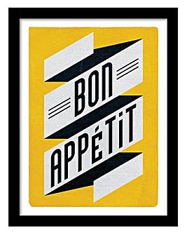 Bon Apetite Black Framed Print