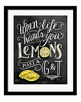 When Life Gives You Lemons Framed Print