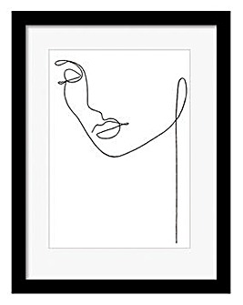 Portrait Sketch Black Framed Print