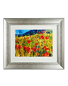 South Down Poppies Silver Spoon Frame