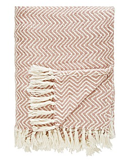 Herringbone Recycled Woven Throw