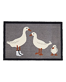Three Little Ducks Door Mat