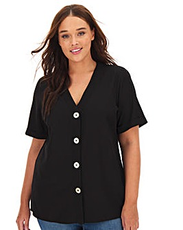 Black Button Front blouse