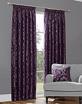 "Baroque Taffeta Chenille Thermal 3"" Curtains"