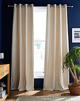 Toledo Chenille Thermal Eyelet Curtains
