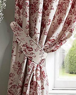 Cabbages & Roses Paris Rose Tie Backs