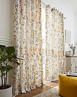 Emily Lined Eyelet Curtains