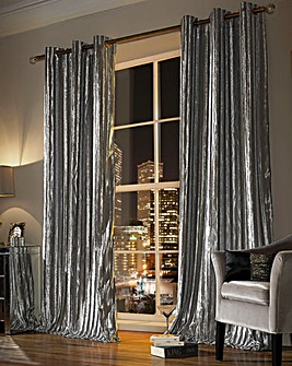 Kylie Iliana Lined Eyelet Curtains