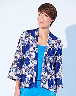 Print Slinky Kimono Jacket