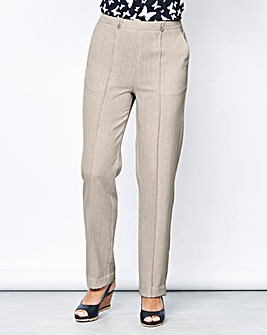 Textured Pull On Trouser 27in