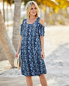 Cold Shoulder Jersey Dress