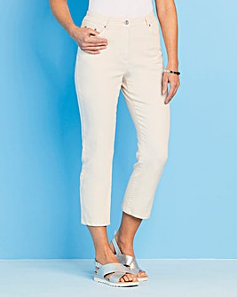 Stretch Cotton Crop Trousers