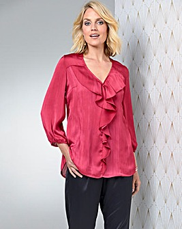 Julipa Red Frill Front Blouse
