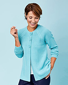 Slimma Cardigan With Rib Detail