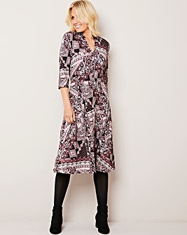 Julipa Paisley Print Button Shirt Dress