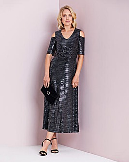 Julipa Sequin Cold Shoulder Dress