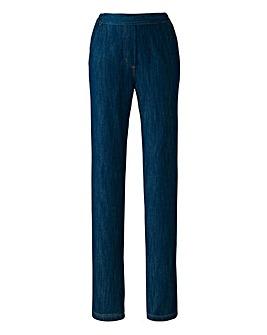 Pull-On Straight-Leg Jeans Regular