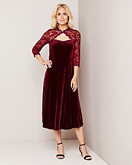 Julipa Velour Lace Trim Dress