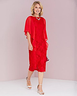 Julipa Lace Front Chiffon Sleeve Dress