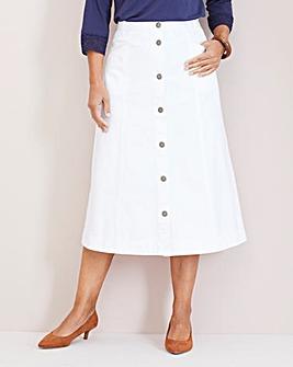 Julipa Button-Front Denim Skirt L 29in