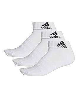 adidas 3 Pack Cushion Ankle Socks