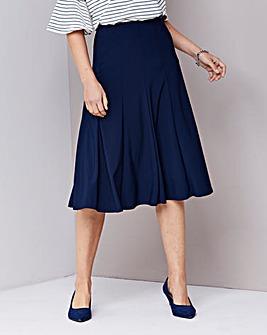 Julipa Plain Jersey Panelled Skirt L32in