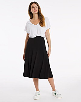 Julipa Plain Jersey Panelled Skirt L27in