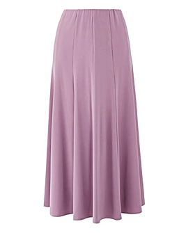 Julipa Plain Jersey Panelled Skirt L32in